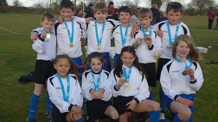 The Palgrave Primary School team after winning the tag rugby tournament. Picture: PALGRAVE PRIMARY S