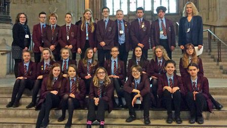 NWHS Year 9 students in the Houses of Parliament. Picture: NWHS