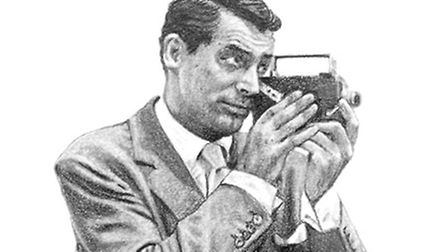 Cary Grant depicted in The Day Cary Came to Norwich is at the Fairhurst Gallery, Norwich, until Apri