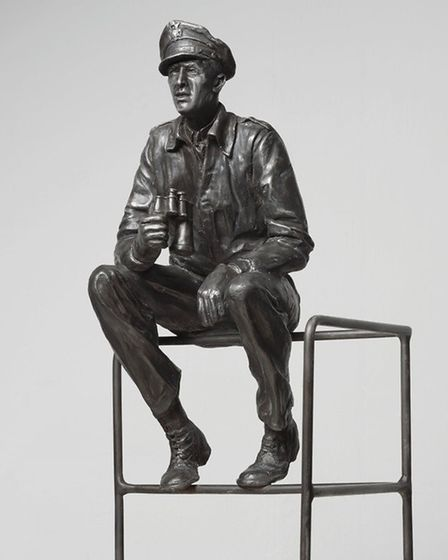 Jimmy, the sculpture by Nina and Tim Hannam of the Bronzecraft foundry, Attleborough, that depictes