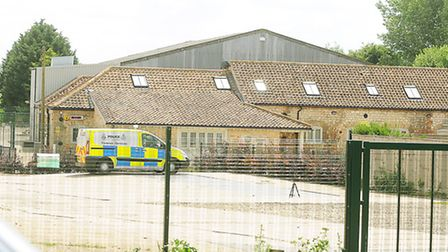 The scene at the Larchwood Foods Limited site, Fincham, in 2014 when Arthur Mason died. Picture: Ian