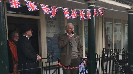 Ian Lavender opens Diss Museum for the 2017 season. picture:SABRINA JOHNSON