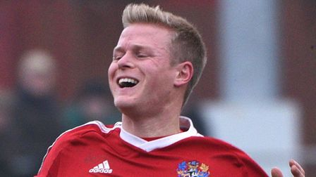 Michael Frew bagged a brace in Wisbech's 3-2 win over Newport Pagnell. Picture: Archant