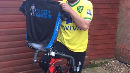 David Frosdick is pedalling in Prostate Cancer UK's fifth annual Football to Amsterdam ride. Picture