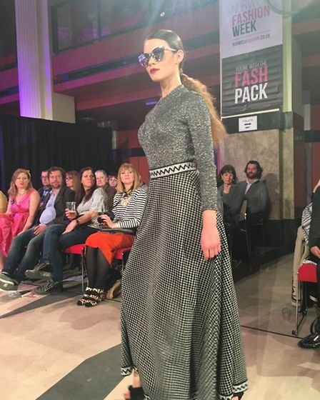 Norwich Fashion Week 2017: A model styled by Butterflygirl Vintage at The Vintage Show sponsored by