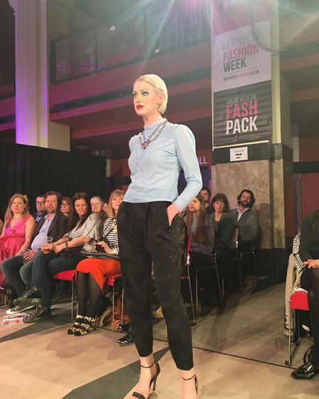 Norwich Fashion Week 2017: A model styled by Super Queenie Retro at The Vintage Show sponsored by Za