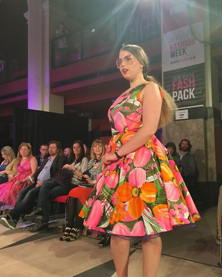 Norwich Fashion Week 2017: A model styled by Chenika Betts at The Vintage Show sponsored by Zaks Aut