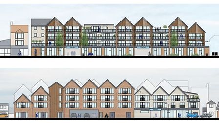 Proposed elevations and material details. Picture: Richard Pike Associates