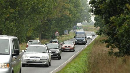 The single carriageway A47 at between Blofield and North Burlingham. Facing towards Acle Picture: J