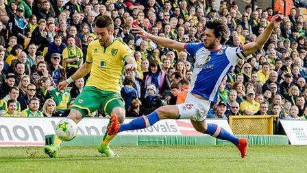 Ivo Pinto in action against Blackburn Rovers - the day after Alex Neil's departure. Picture: Matthe