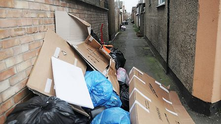 People living in the North End are being asked not to put their rubbish out in alleyways. Picture: C