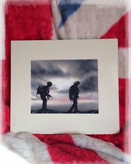 A painting by Rickie Botwright, which is to be auctioned off for Help for Heroes. Picture: Rickie Bo
