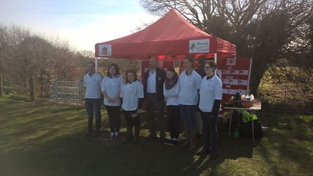 Members of the Prince's Trust Team Programme who are helping to raise awareness of the conservation