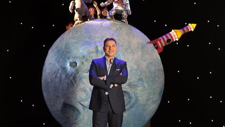 David Walliams on stage for The First Hippo on the Moon, an adaptation of his book by Les Petits The