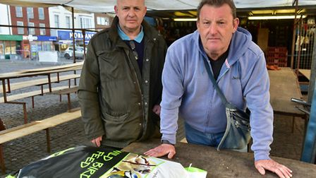 Yarmouth market traders are angry at changes in management and policy. Market traders Michael Anders