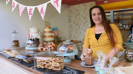 Tori Fama on her 'And Eat It' cake and bakery stall at Norwich Market. Picture: DENISE BRADLEY