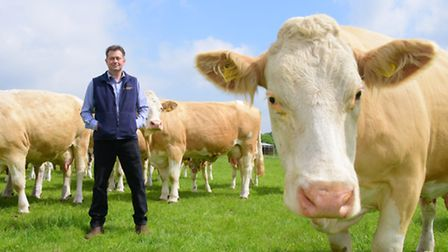Hevingham farmer and managing director of abattoir HG Blakes Andrew Clarke. PHOTO BY SIMON FINLAY
