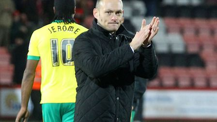 Alex Neil helped inspire Norwich City to a 2-1 win at Bournemouth at the start of his reign. Pictur