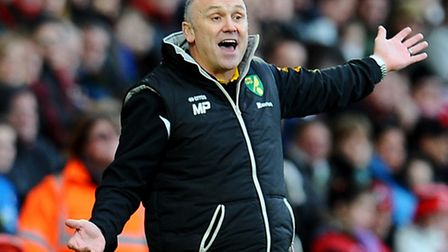 Mike Phelan didn't seem impressed after Alex Neil's arrival. Picture: Clive Gee/PA Wire.
