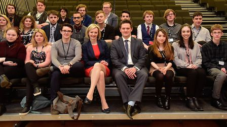 Secretary of State for Justice and South West Norfolk MP Elizabeth Truss visited Thetford Academy to
