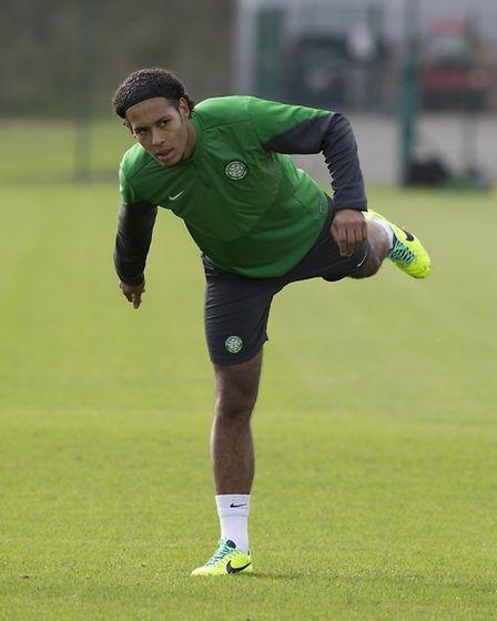Virgil Van Dijk during his Celtic playing days. Picture: PA