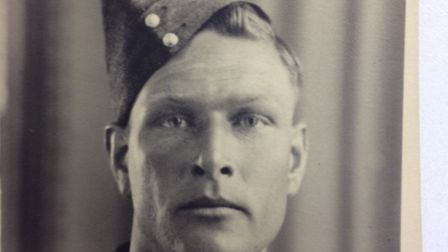 George Smith during his war service. Picture: Submitted.