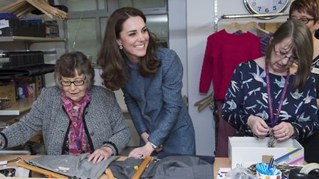 The Duchess of Cambridge talks to volunteers during last March's official opening. Photo credit: Ar