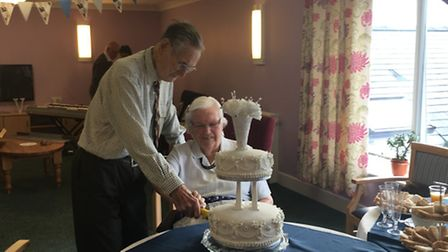 Jack and Daphne Hart at their celebration. Picture: Peter Barlow