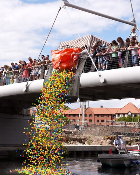 The Duck Race on the Wensum, part of the Lord Mayors Celebrations. Photo : Steve Adams