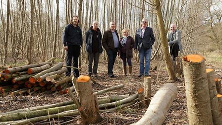 Breckland councillors visited Cloverfields and Abbey Meadows to check on the improvement work taking
