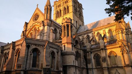 St John the Baptist cathedral in setting sun. Picture: JO CLARKE