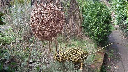 Sculptures created for the new wildlife art trail at Ivy Grange Farm in Wetshall. Picture: Adele and