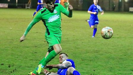 Gorleston on their way to victory over Kirkley and Pakefield eight days ago. Picture: Steve Wood