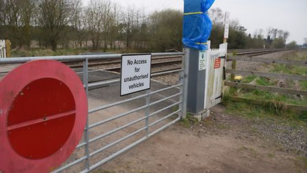 The rural level crossing at Roudham, where train and tractor collision occurred. Picture: DENISE BRA