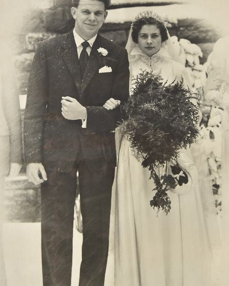 Brian and Thelma Baker celebrate their 65th Wedding anniversary. Byline: Sonya Duncan Copyright: Arc