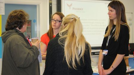 Parents find out about the relaunched Phoenix Hub at Great Yarmouth High School.