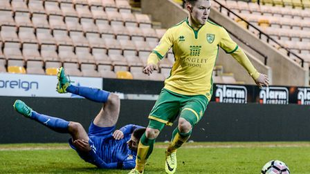 Young winger Glenn Middleton has impressed for Norwich City Under-23s this season. Picture: MATTHEW