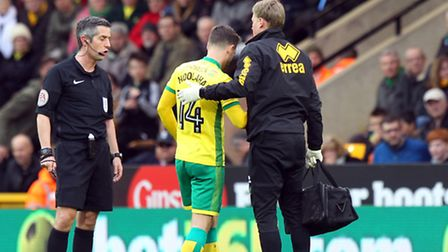 Wes Hoolahan was withdrawn in the first half of Saturday's match against Barnsley with a thigh injur