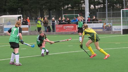Broadland Ladies on the attack during their 3-1 win over Norwich City III in the Premier Division of