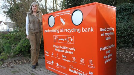 Councillor Kay Mason-Billig at the new oil bank in Long Stratton. Picture: SOUTH NORFOLK COUNCIL