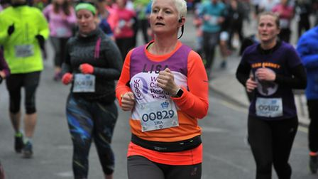 Lisa Blair has been running half marathons in training for the London Marathon. Picture: Courtesy of