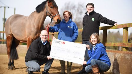 D & H Group Farm suppliers raised funds for the Magpie Centre at Runcton Holme. Pictured are (from l