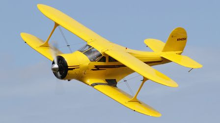 A 1943 Beechcraft Staggerwing will be on display at this year's Old Buckenham Airshow. Picture: Old