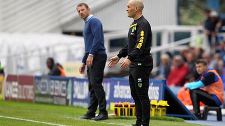 Gary Rowett, then with Birmingham, shares a touchline with Alex Neil. Picture: Paul Chesterton/Focus