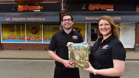 Michael Power and Joanne Smith from Sgt Peppers. The restaurant is set to celebrate its 35th anniver