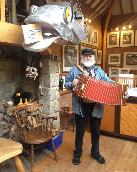 Graham Clarke with his squeeze box