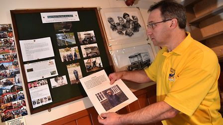 The Dad's Army Museum in Thetford is reopening for the new season. Stuart Wright preparing one of th