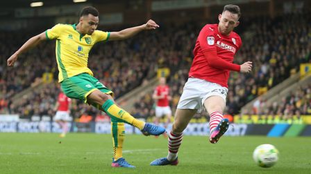 Jacob Murphy rifled Norwich City in front in the first half against Barnsley. Picture: Paul Chester