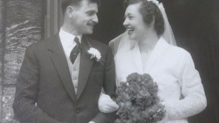 John and Verna Ryan on their wedding day on March 16 1957. Picture: Ryan family