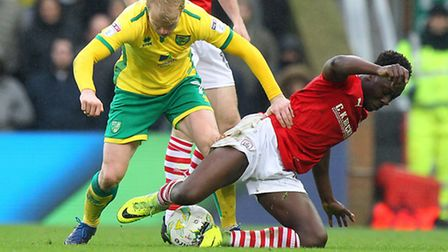 Steven Naismith leads the charge against Barnsley. Picture: Paul Chesterton/Focus Images Ltd